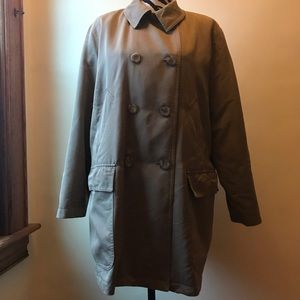 London Fog double breasted lined rainbow coat
